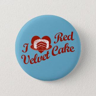 I Love Red Velvet Cake Pinback Button