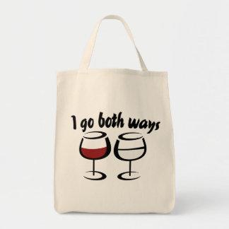 I love red wine and white wine tote bag