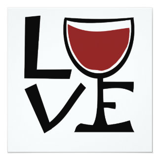 I love red wine drinker card