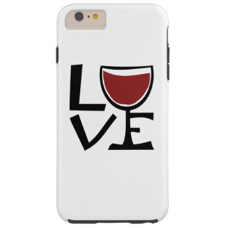 I love red wine drinker tough iPhone 6 plus case
