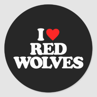I LOVE RED WOLVES STICKERS
