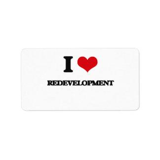 I Love Redevelopment Address Label