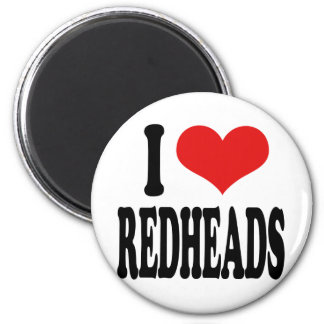 I Love Redheads 2 Inch Round Magnet