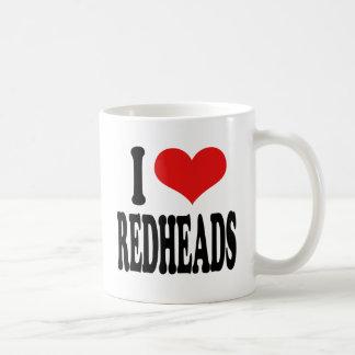 I Love Redheads Coffee Mug