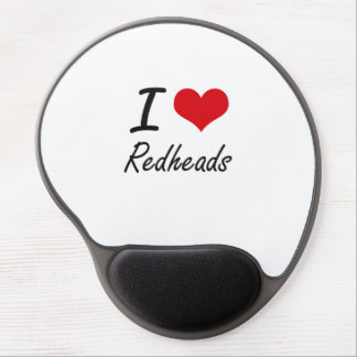 I Love Redheads Gel Mouse Pad