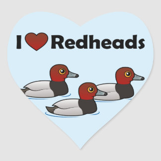 I Love Redheads Heart Sticker