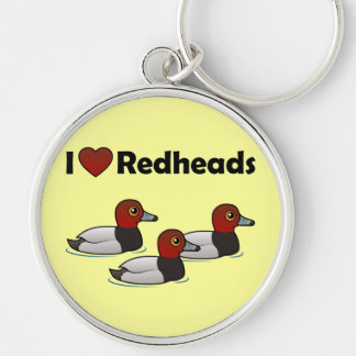 I Love Redheads Keychains