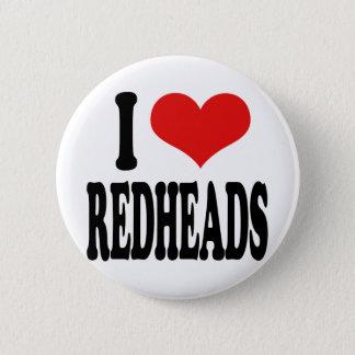 I Love Redheads Pinback Button