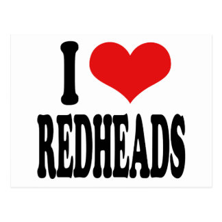 I Love Redheads Post Cards