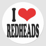 I Love Redheads Stickers