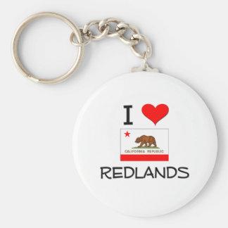 I Love REDLANDS California Keychain