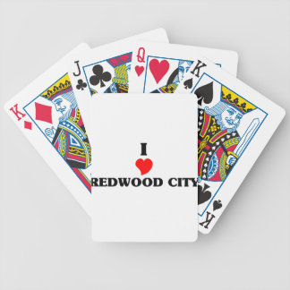 I love Redwood City Bicycle Playing Cards