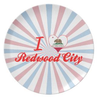 I Love Redwood City, California Dinner Plates
