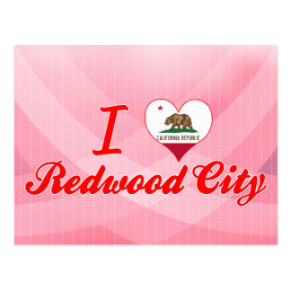 I Love Redwood City, California Postcard