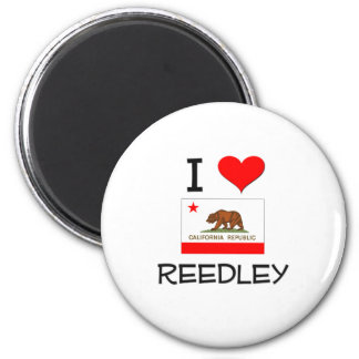 I Love REEDLEY California 2 Inch Round Magnet