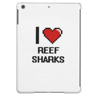 I love Reef Sharks Digital Design iPad Air Cover