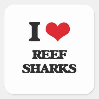 I love Reef Sharks Sticker