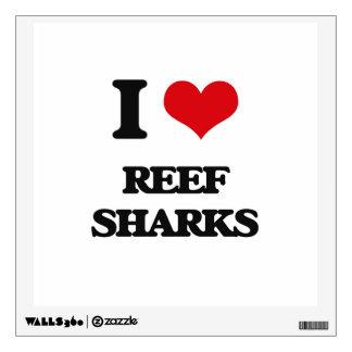 I love Reef Sharks Wall Skin