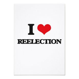 "I Love Reelection 5"" X 7"" Invitation Card"