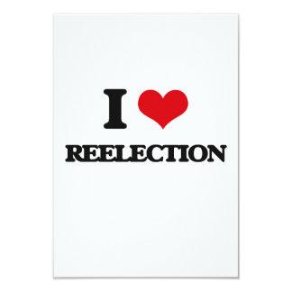 "I Love Reelection 3.5"" X 5"" Invitation Card"