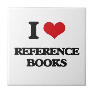 I Love Reference Books Tile
