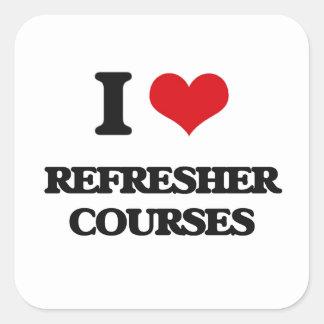 I Love Refresher Courses Square Sticker