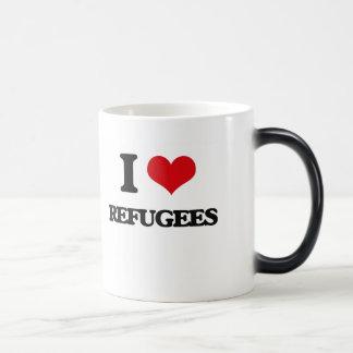 I Love Refugees Magic Mug