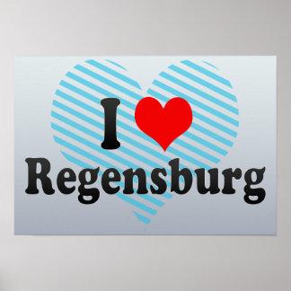 I Love Regensburg, Germany Posters