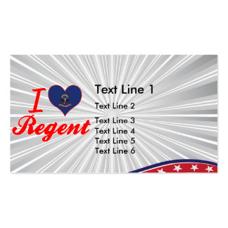 I Love Regent, North Dakota Business Cards