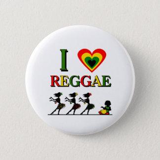 I Love Reggae Button