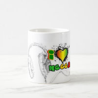 i love reggae coffee mug