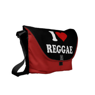 I Love Reggae Courier Bag