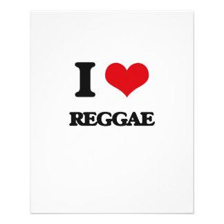 I Love REGGAE Flyer Design