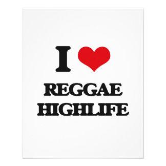 I Love REGGAE HIGHLIFE Custom Flyer
