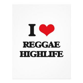 I Love REGGAE HIGHLIFE Personalized Flyer