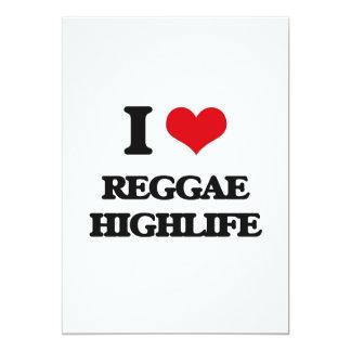 """I Love REGGAE HIGHLIFE 5"""" X 7"""" Invitation Card"""