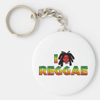 I Love Reggae Keychain