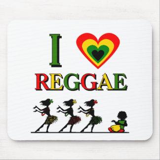 I Love Reggae Mouse Pads