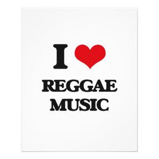 """I love Reggae Music 4.5"""" X 5.6"""" Flyer"""