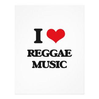 """I love Reggae Music 8.5"""" X 11"""" Flyer"""