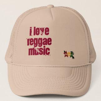 """""""i love reggae music"""" trucker hat"""