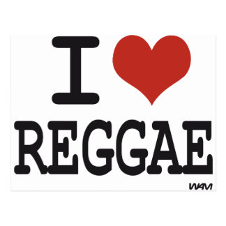 I love reggae postcard