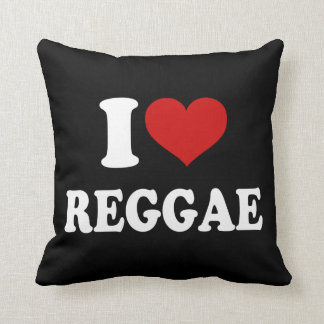 I Love Reggae Throw Pillow