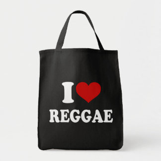I Love Reggae Tote Bag