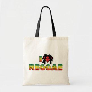 I Love Reggae Tote Bag