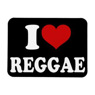 I Love Reggae Vinyl Magnet