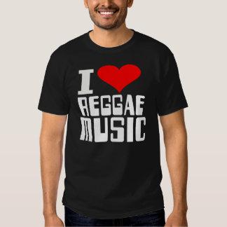 I Love Reggea Music T Shirt
