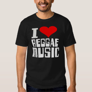 I Love Reggea Music Tee Shirt
