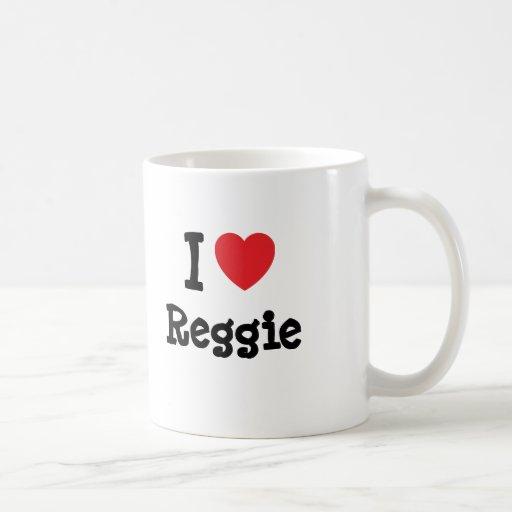 I love Reggie heart custom personalized Coffee Mug