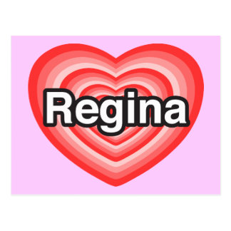 I love Regina. I love you Regina. Heart Postcard